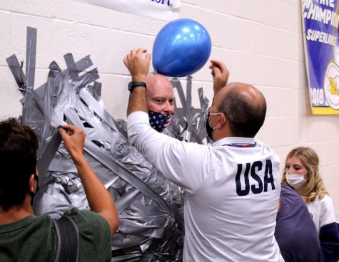 Anderson Taped To Wall For Make-A-Wish